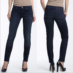 7 For All ManKind Roxanne Mid Rise Size 26 Jeans